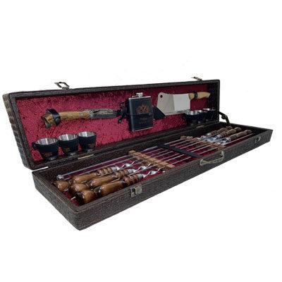 Набор шампуров с аксессуарами в чемодане Элит-Х