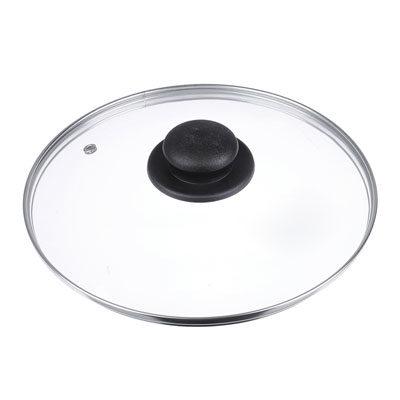 Крышка для сковороды, стеклянная, с металическим ободком в сборе