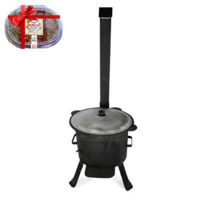 Комплект Казан и печь с трубой